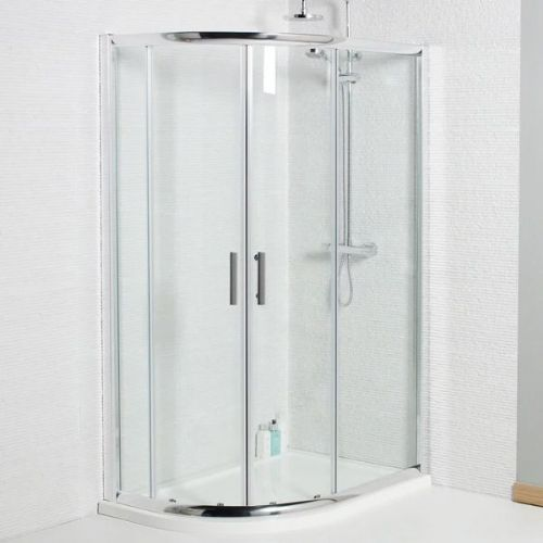 Kartell Koncept Offset Quadrant Shower Enclosure - 900mm x 760mm - 6mm Glass